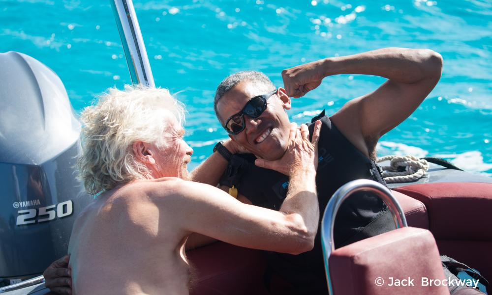 Former President Barack Obama, and his wife, Michelle, have spent some vacationing with Richard Branson since leaving the White House. (Photo: AP)