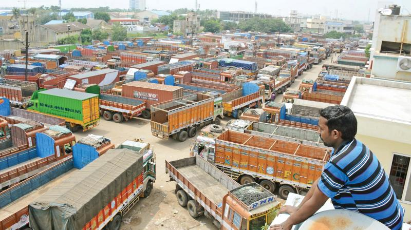 Truckers' strike halts goods movement across Karnataka