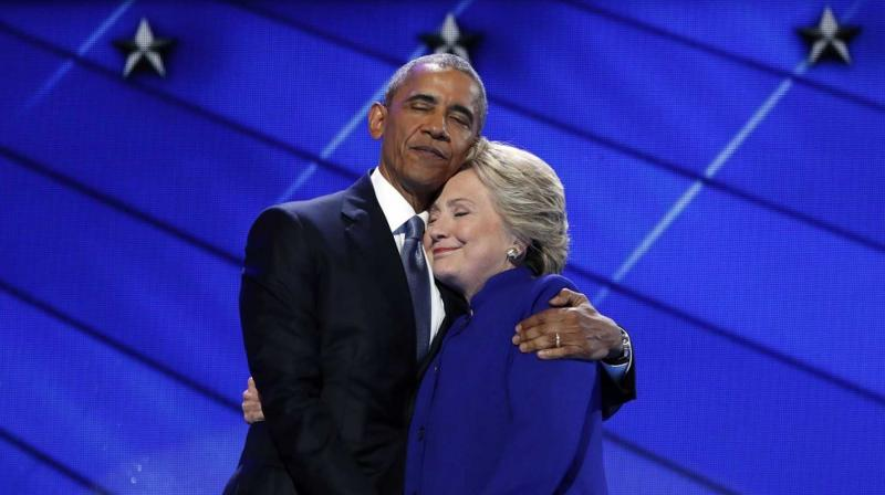 Democratic presidential nominee Hillary Clinton has said she is grateful for the amazing support she got from outgoing US President Barack Obama. (Photo: AP)