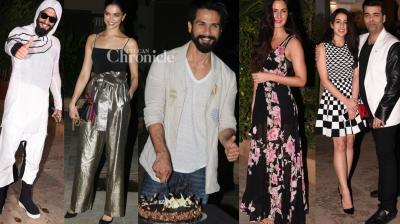 Mira Rajput threw a lavish birthday bash on Sunday for her husband Shahid Kapoor, who celebrates his birthday on February 25.  (Photo : Viral Bhayani)