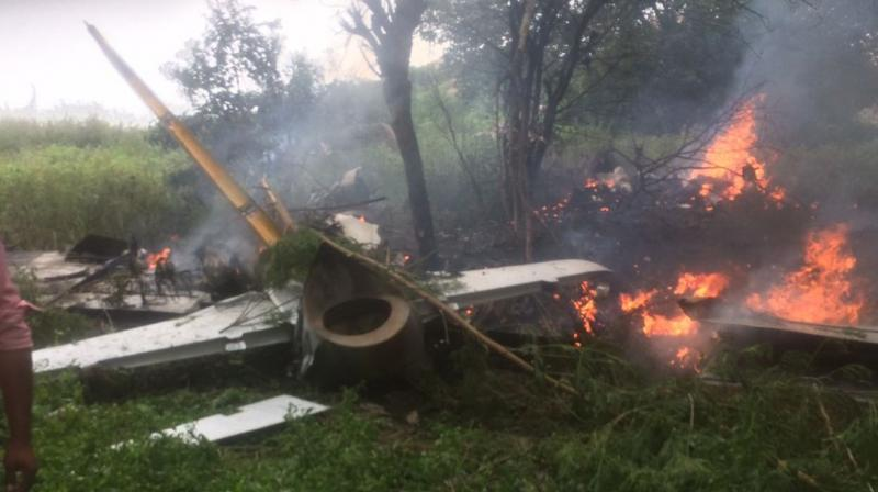 IAF training jet crashes in Hyderabad, pilot unhurt