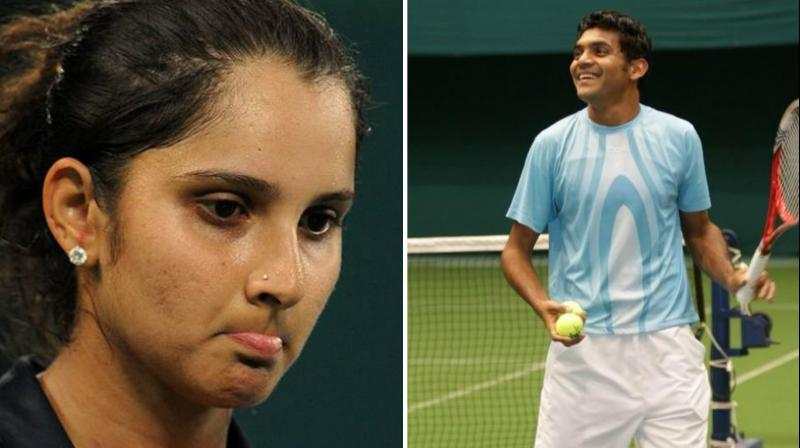 Sania Mirza (left) lost wo places in womens doubles ranking , while Divij Sharan reached his career high ranking after reaching the final of the last three tournaments. (Photo: AP/Facebook)