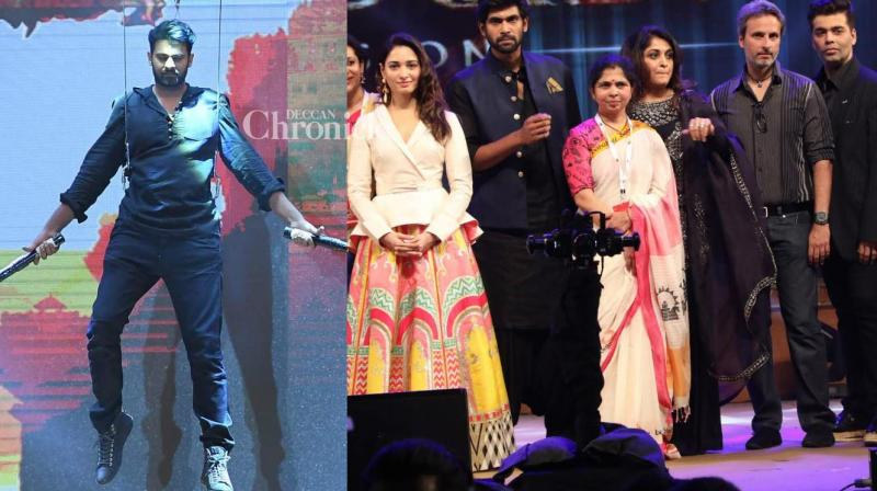 The team of 'Baahubali: The Conclusion' launched the audio of the film in a grand event in Hyderabad on Sunday. (Photo: Viral Bhayani)