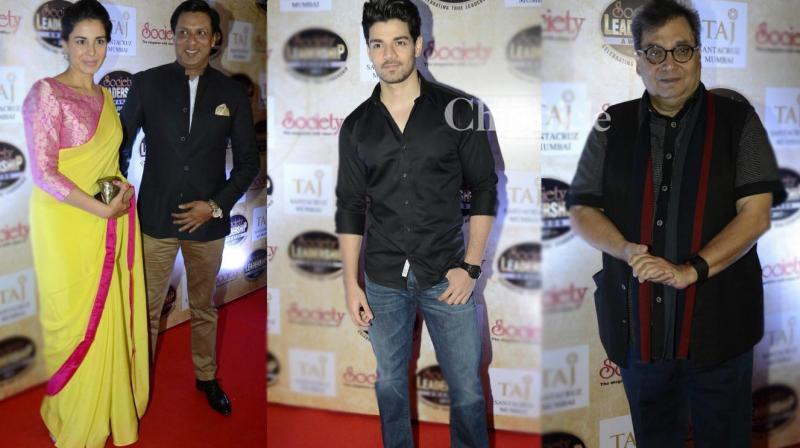 Numerous Bollywood stars were present at the Society Leadership Awards held in Mumbai on Sunday. (Photo: Viral Bhayani)