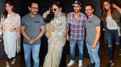 For the second day in a row, Aamir Khan hosted a screening of his film 'Secret Superstar' which was attended by several celebrities in Mumbai on Tuesday. (Photo: Viral Bhayani)