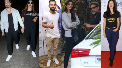 Celebrities from different fields were seen at various locations in Mumbai on Tuesday. (Photo: Viral Bhayani)