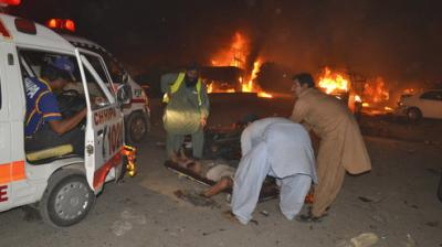 At least 17 people were killed and nearly 30 others injured on Saturday when a powerful blast targeting a vehicle of the security forces went off in Pakistan's Quetta city.