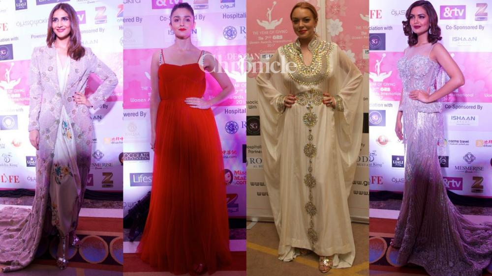 Hollywood star Lindsay Lohan was the star attraction along with other stars at the GR8 Women Awards held in Mumbai on Thursday. (Photo: Viral Bhayani)