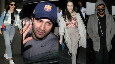 Bollywood stars were spotted in their casual avatar at the airport, gym and other locations in Mumbai on Thursday. (Photo: Viral Bhayani)