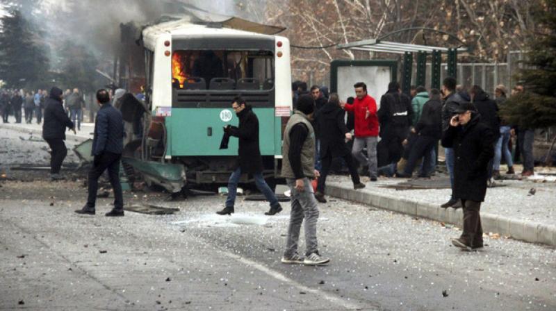 1 killed, 4 hurt in gunfire and bomb attack in Turkey