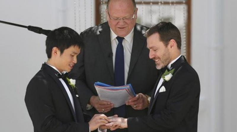 Same-sex couples can have civil unions or register their relationships in most states across Australia. (Photo: Representational/AP)