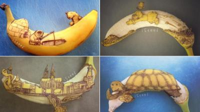 Dutch artist creates art on bananas to make unique fruit doodles inspired by popular fiction characters. (Photo: Instagram/StephanBrusche)