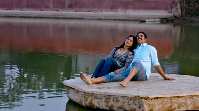 Bhumi and Akshay in a still from the film.