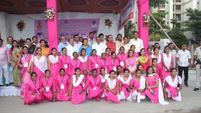 Surat Municipality launched Pink Auto Service for women passengers and driven by women drivers.