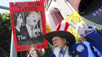 With the deadline for 2016 tax returns to be filed coming closer, thousands of protesters gathered on Saturday in cities across the United States to pressurise President Donald Trump to release his tax returns, a move of transparency he has repeatedly refused.