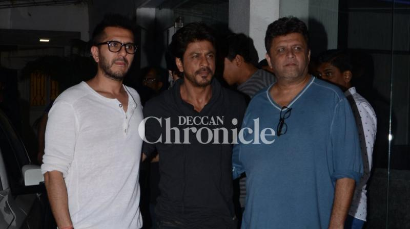 Celebrities associated with the film 'Raees' attended its first screening on Thursday. (Photo: Viral Bhayani)