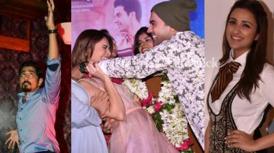 Bollywood stars were snapped at various events for their respective films at events in Mumbai on Tuesday. (Photo: Viral Bhayani)