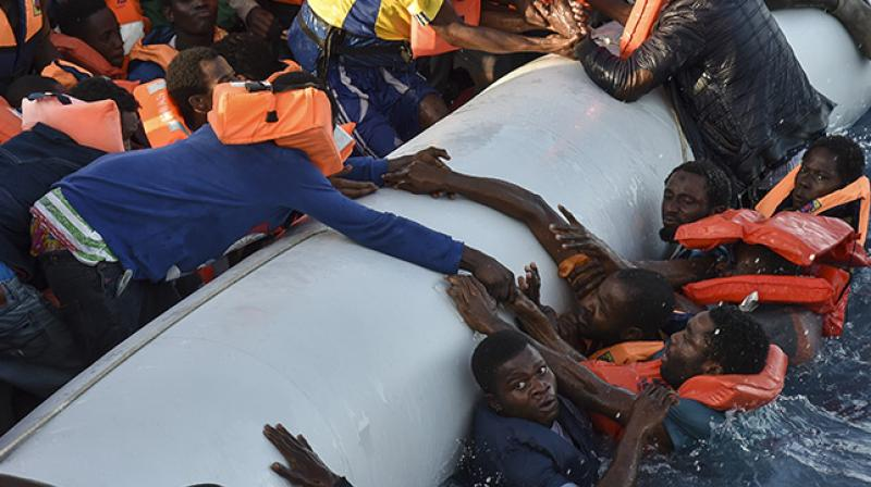 Departures from Libya are continuing unabated despite worsening weather in the Mediterranean (Photo: AFP)