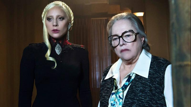 Lady Gaga and Kathy Bates in a still from the show.