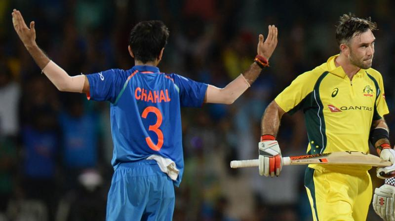 Watch Yuvzvendra Chahal's epic reaction on Glenn Maxwell's Ranchi Twenty20 wicket