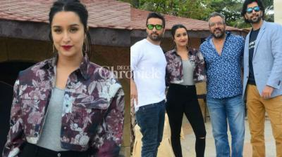 The team of the upcoming 'Haseena Parkar' was busy on Sunday with activities for their film including promotions and a screening in Mumbai. (Photo: Viral Bhayani)
