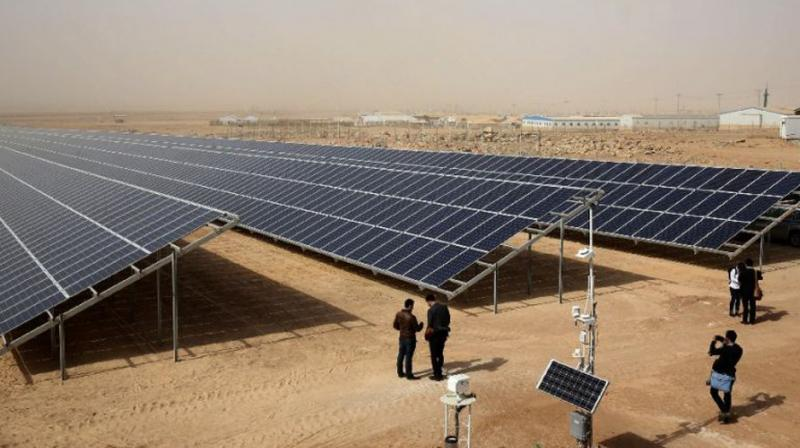 Jordan launches solar project in camp for Syrian refugees