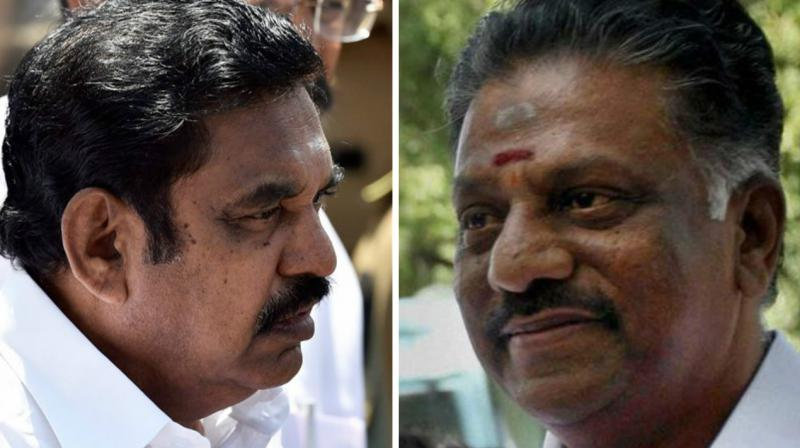 Tamil Nadu CM Edappadi K Palanisamy (left) and AIADMK rebel faction leader O Panneerselvam (right). (Photo: File)