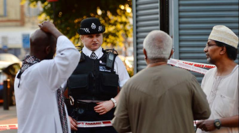 Several injured after vehicle rams people leaving London mosque