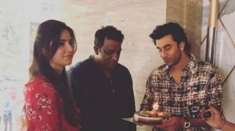 WATCH Ranbir, Katrina celebrate Anurag Basu's Birthday on 'Jagga Jasoos' sets