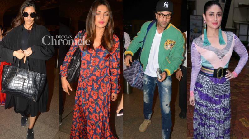 Bollywood stars were snapped by shutterbugs at various locations in Mumbai on Saturday. (Photo: Viral Bhayani)