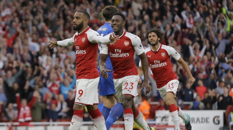 Alexandre Lacazette had a dream debut for Arsenal against Leicester. (Photo: AP)