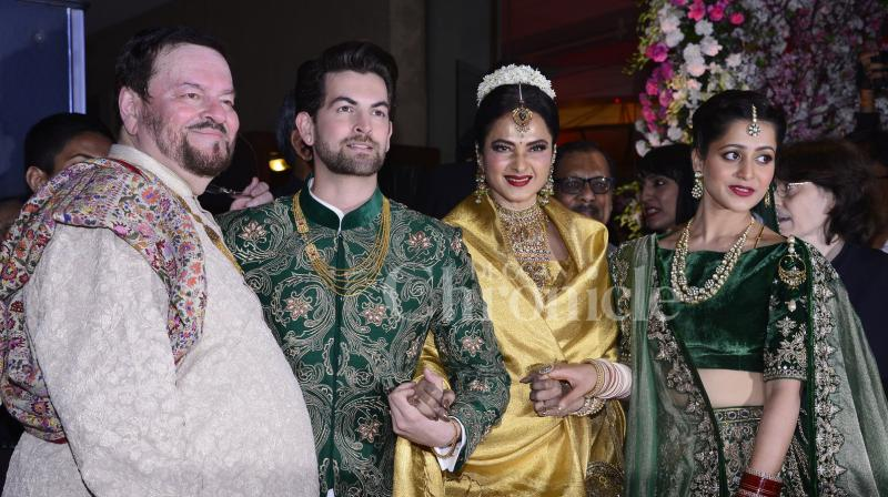 A look at Neil Nitin Mukesh-Rukmini Sahay's star-studded wedding reception