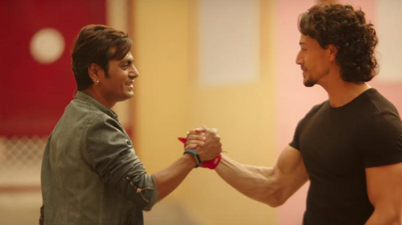 Nawaz matches steps with Tiger in the latest track of Munna Michael