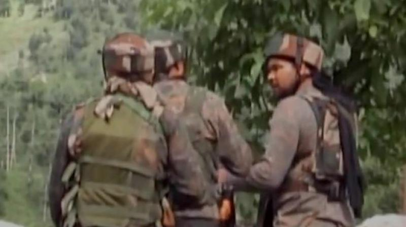 The encounter began after militants opened fire on security forces who were carrying out a search operation in Satoora forest area of Tral. (Representational Image)