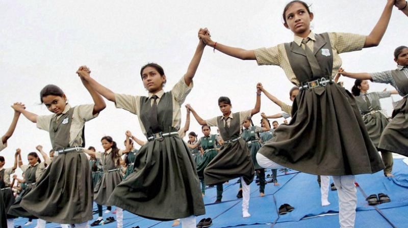 The plea said that right to health cannot be secured without providing 'yoga and health education' to all children or without framing a 'national yoga policy' to promote and propagate it. (Photo: PTI)