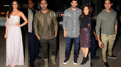 Several Bollywood celebrities were seen at a screening of the ucpoming film 'OK Jaanu'. (Photo: Viral Bhayani)