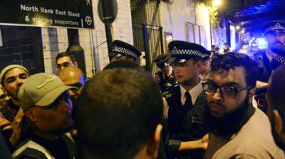 A vehicle in London swerved into a group of people leaving prayers shortly after midnight at the Finsbury Park Mosque, killing one and injuring 10 others. The attack at one of the biggest mosque's in the United Kingdom comes during the Muslim holy month of Ramadan. (Photo: AP)