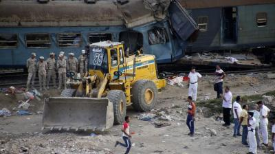 Two passenger trains collided on Friday just outside Egypt's Mediterranean port city of Alexandria, according to authorities, the country's deadliest rail accident in more than a decade.