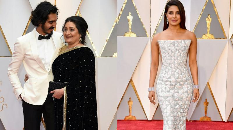 The actors dazzled in their respective red carpet moments. (Photo: AFP)