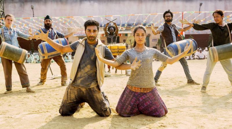 Aadar Jain and Anya Singh in a still from 'Qaidi Band.'