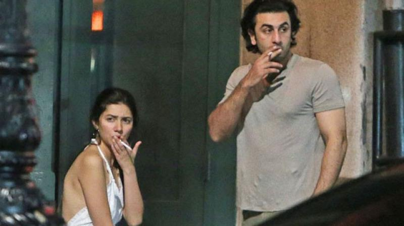 Ranbir Kapoor and Mahira Khan snapped in New York.