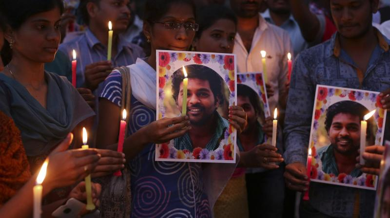 Report calling Rohith Vemula not Dalit is political drama: Students