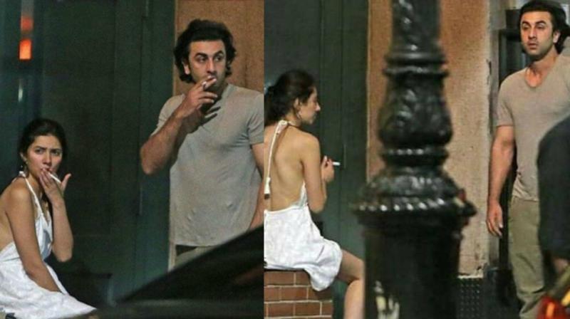 Ranbir Kapoor and Mahira Khan in New York.