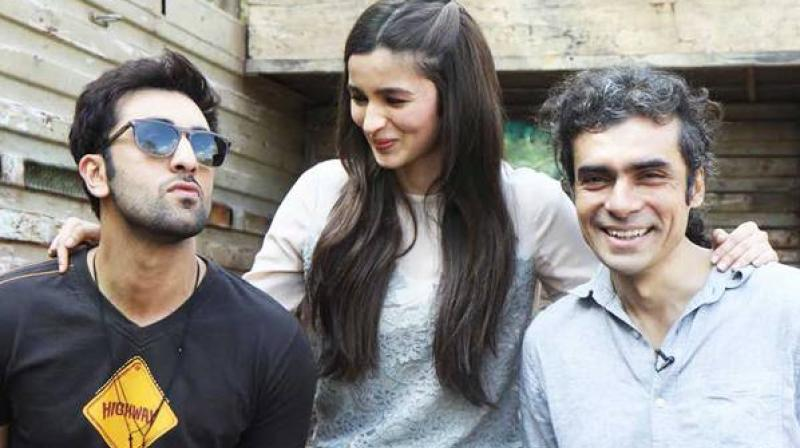 Ranbir Kapoor, Alia Bhatt and Imtiaz Ali.