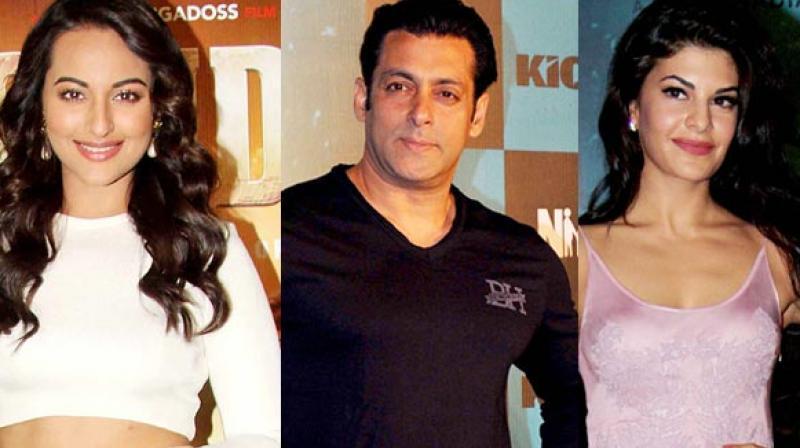 Salman Khan, Sonakshi Sinha and Jacqueline Fernandez.