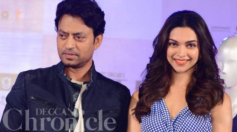 Deepika Padukone and Irrfan Khan were previously seen together in Shoojit Sircar's much appreciated Piku (2015).