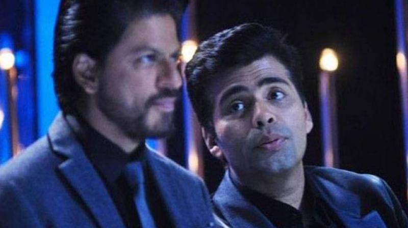 Shah Rukh Khan and Karan Johar.