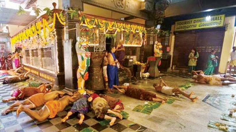 Karnataka came one step closer to banning practices like human sacrifices and Made Snana, which sees devotees rolling on leftovers of a meal with the Cabinet on Wednesday approving the tabling of the Anti-Superstition Bill. (Photo: DC)