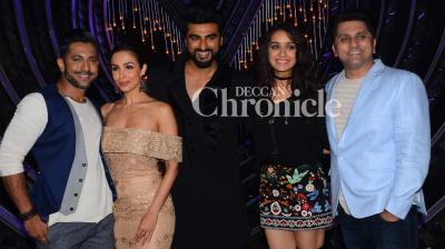 Shraddha Kapoor and Arjun Kapoor promoted their upcoming film 'Half Girlfriend' on the reality show 'Nach Baliye' in Mumbai on Tuesday. (Photo: Viral Bhayani)