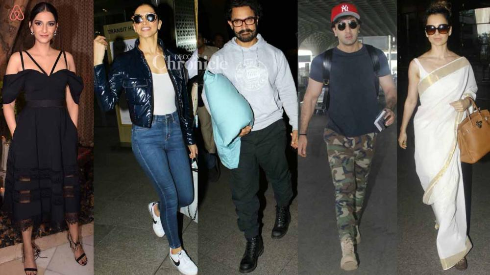 Several Bollywood stars were snapped by shutterbugs at various locations on Sunday. (Photo: Viral Bhayani)